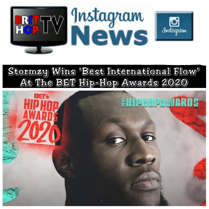 BRITHOPTV: [News] Stormzy Wins 'Best International Flow' At The BET Hip-Hop Awards 2020 | #Grime #UKRap #MusicNews